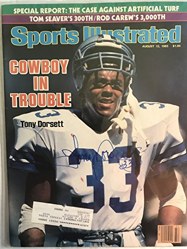 Tony Dorsett Signed Autographed Complete 1985 'Sports Illustrated' Magazine - COA Matching Holograms