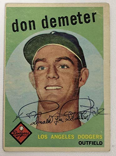 Don Demeter Signed Autographed 1959 Topps Baseball Card - Los Angeles Dodgers