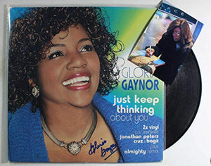 Gloria Gaynor Signed Autographed 'Just Keep Thinking About You' Record Album - COA Matching Holograms