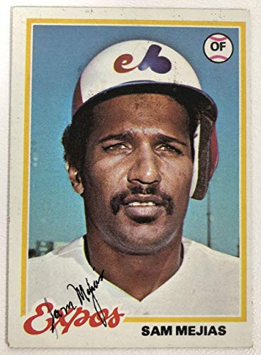 Sam Mejias Signed Autographed 1978 Topps Baseball Card - Montreal Expos
