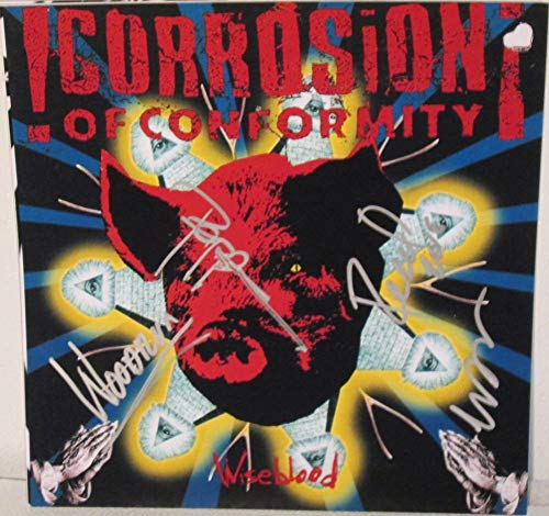 Corrosion of Conformity Band Signed Autographed 'Wiseblood' 12x12 Promo Photo - COA Matching Holograms