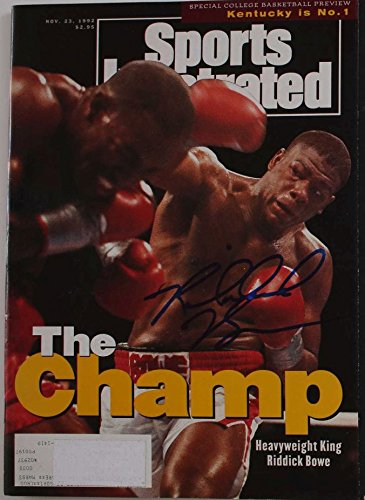 Riddick Bowe Signed Autographed Complete