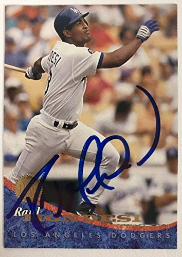 Raul Mondesi Signed Autographed 1994 Leaf Baseball Card - Los Angeles Dodgers