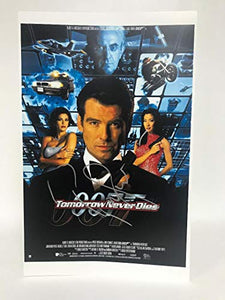 Pierce Brosnan Signed Autographed James Bond 007 'Tomorrow Never Dies' Glossy 11x17 Movie Poster - COA Matching Holograms
