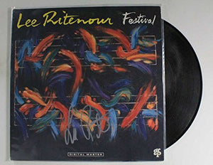 "Lee Ritenour Signed Autographed ""Festival"" Record Album - COA Matching Holograms"