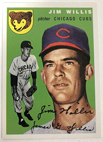 Jim Willis Signed Autographed 1954 Topps Archives Baseball Card - Chicago Cubs