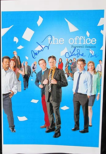 Oscar Nunez & Leslie David Baker Signed Autographed 'The Office' Glossy 11x17 Movie Poster - COA Matching Holograms