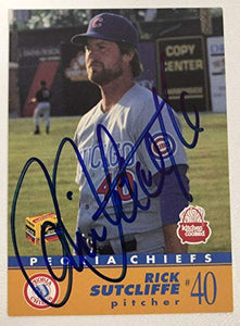Rick Sutcliffe Signed Autographed 1991 Kitchen Cooked Baseball Card - Chicago Cubs