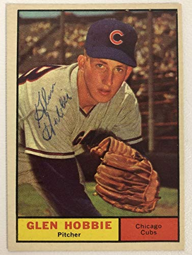 Glen Hobbie Signed Autographed 1961 Topps Baseball Card - Chicago Cubs