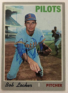 Bob Locker Signed Autographed 1970 Topps Baseball Card - Seattle Pilots