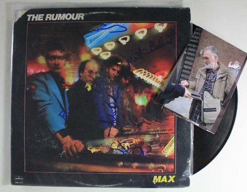 Graham Parker & The Rumour Group Signed Autographed