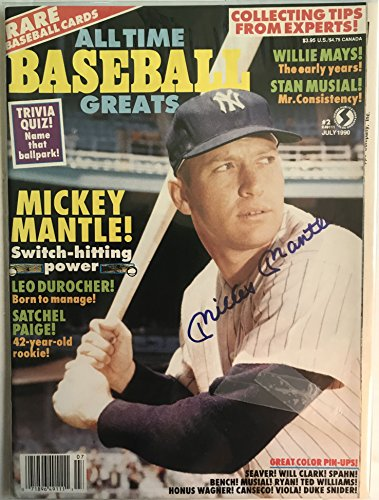 Mickey Mantle Signed Autographed Complete 1990 'All Time Baseball Greats' Magazine - COA Matching Holograms