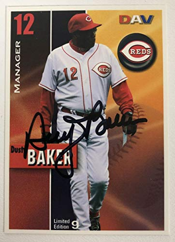Dusty Baker Signed Autographed 2008 DAV Baseball Card - Cincinnati Reds