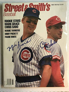 Mark Grace & Chris Sabo Signed Autographed Complete 'Street & Smith's' Magazine - COA Matching Holograms