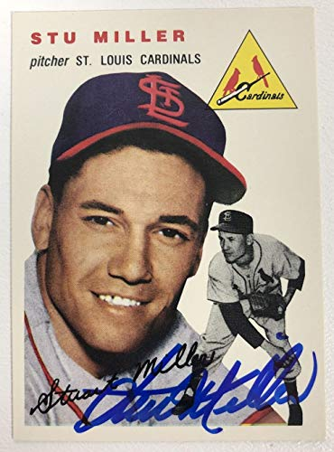 Stu Miller Signed Autographed 1954 Topps Archives Baseball Card - St. Louis Cardinals