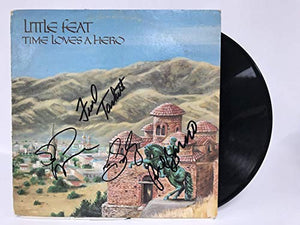 Little Feat Band Signed Autographed 'Time Loves a Hero' Record Album - COA Matching Holograms