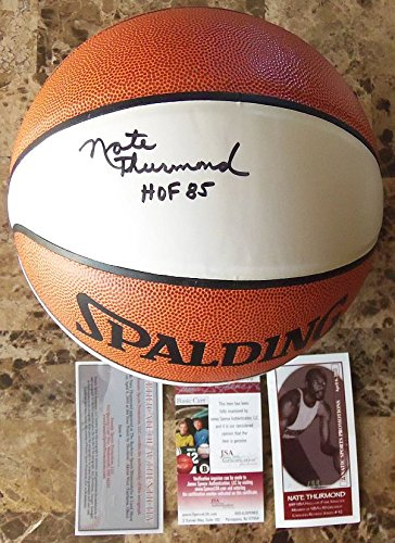 Nate Thurmond (d. 2016) Signed Autographed Full-Sized LE Basketball #/108 - (JSA COA)