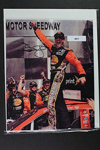 Jamie McMurray Signed Autographed Nascar Glossy 8x10 Photo - COA Matching Holograms