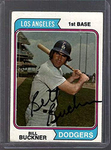 Bill Buckner Signed Autographed 1974 Topps Baseball Card - Los Angeles Dodgers