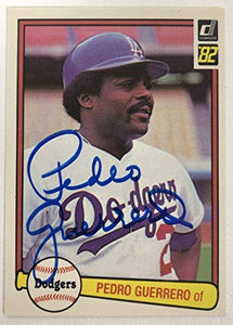 Pedro Guerrero Signed Autographed 1982 Donruss Baseball Card - Los Angeles Dodgers