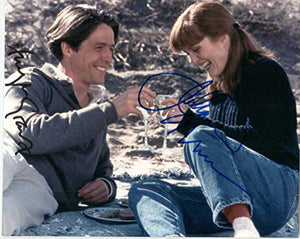 Hugh Grant & Julianne Moore Signed Autographed Glossy 'Nine Months' 8x10 Photo - COA Matching Holograms