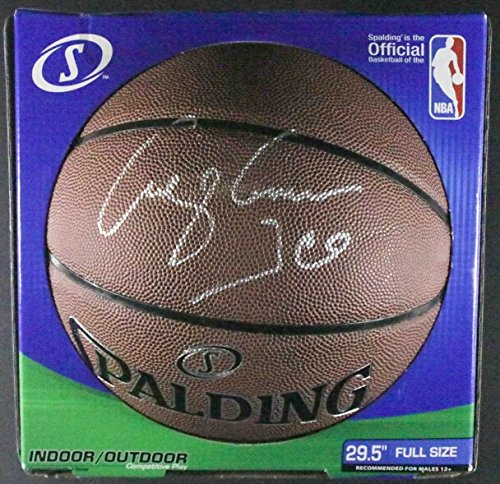 George Gervin 'Ice' Signed Autographed Spalding NBA Basketball - COA Matching Holograms