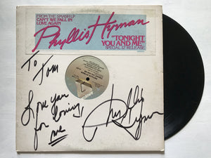"Phyllis Hyman (d. 1995) Signed Autographed ""Tonight You and Me"" Record Album - COA Matching Holograms"