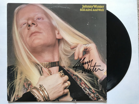 Johnny Winter (d. 2014) Signed Autographed