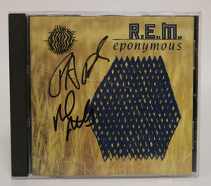 "Mike Mills & Peter Buck Signed Autographed R.E.M. ""Eponymous"" Music CD - COA Matching Holograms"