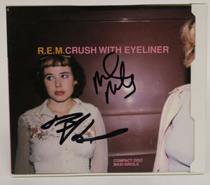 "Mike Mills & Peter Buck Signed Autographed R.E.M. ""Crush With Eyeliner"" Music CD - COA Matching Holograms"