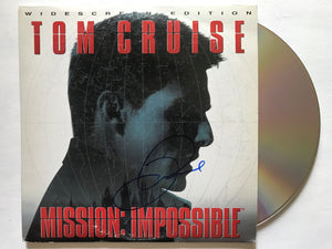 "Tom Cruise Signed Autographed ""Mission Impossible"" LaserDisc Movie - COA Matching Holograms"