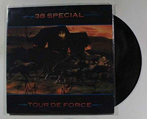"38 Special Group Signed Autographed ""Tour De Force"" Record Album - COA Matching Holograms"
