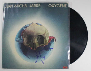 "Jean Michael Jarre Signed Autographed ""Oxygene"" Record Album - COA Matching Holograms"