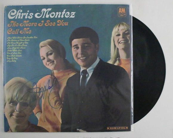 "Chris Montez Signed Autographed ""The More I See You"" Record Album - COA Matching Holograms"