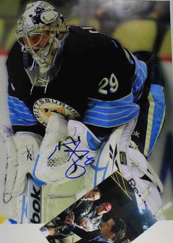 Marc-Andre Fleury Signed Autographed 11x14 Photo Pittsburgh Penguins - COA Matching Holograms