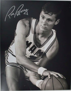 Rick Barry Signed Autographed Glossy 11x14 Photo - U of Miami Hurricanes