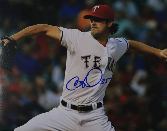 Cole Hamels Signed Autographed Glossy 11x14 Photo Texas Rangers - COA Matching Holograms