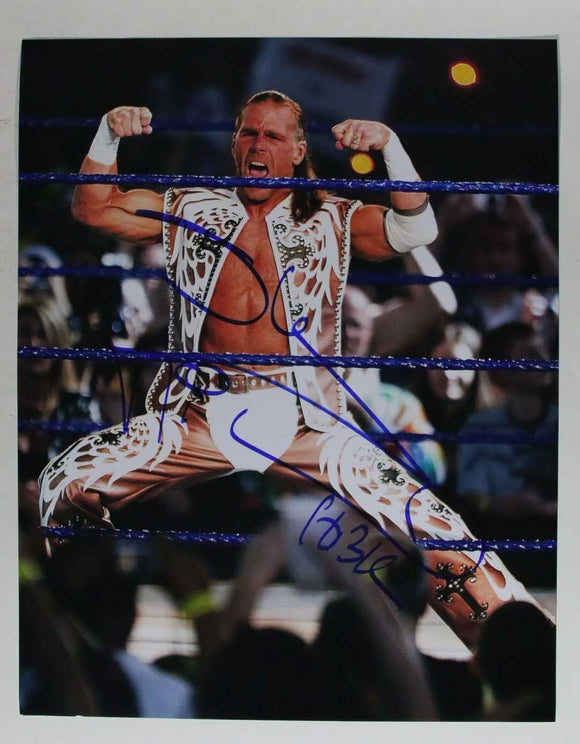 Shawn Michaels Signed Autographed Glossy 11x14 Photo - COA Matching Holograms