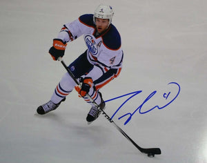 Taylor Hall Signed Autographed Glossy 11x14 Photo Edmonton Oilers - COA Matching Holograms