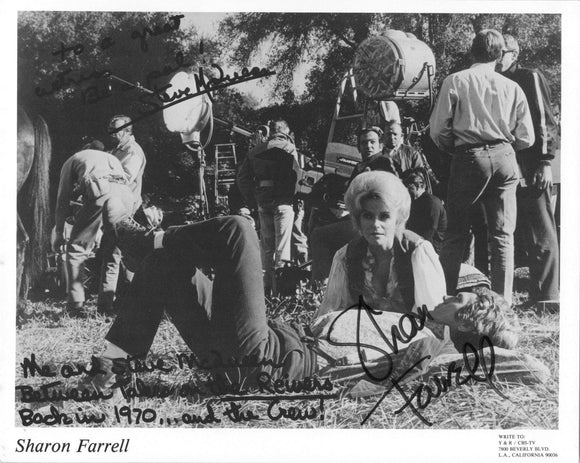 Sharon Farrell Signed Autographed Glossy 8x10 Photo Pictured w/ Steve McQueen - COA Matching Holograms