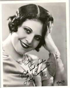 Lina Basquette Signed Autographed Glossy 8x10 Photo - COA Matching Holograms