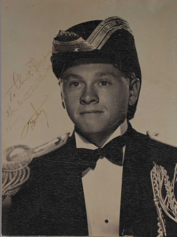 Mickey Rooney (d. 2014) Signed Autographed Vintage 7x9 Photo - COA Matching Holograms