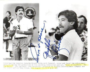 Geraldo Rivera Signed Autographed Glossy 8x10 Photo - COA Matching Holograms