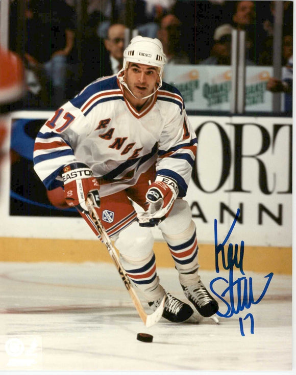 Kevin Stevens Signed Autographed Glossy 8x10 Photo - New York Rangers