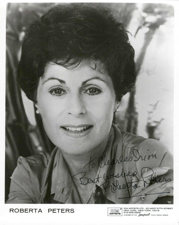 Roberta Peters (d. 2017) Signed Autographed Glossy 8x10 Photo - COA Matching Holograms