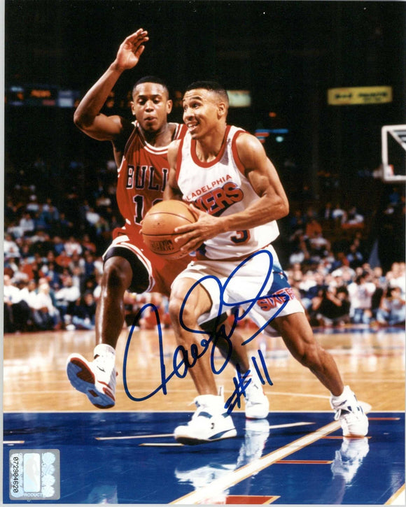 Dana Barros Signed Autographed 8x10 Photo (Philadelphia 76ers) - COA Matching Holograms