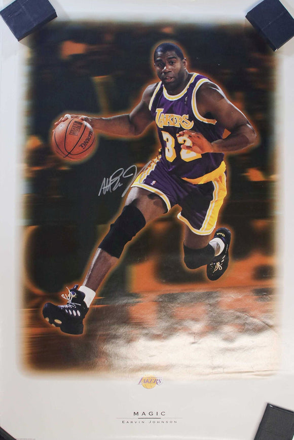 Magic Johnson Signed Autographed Poster - COA Matching Holograms