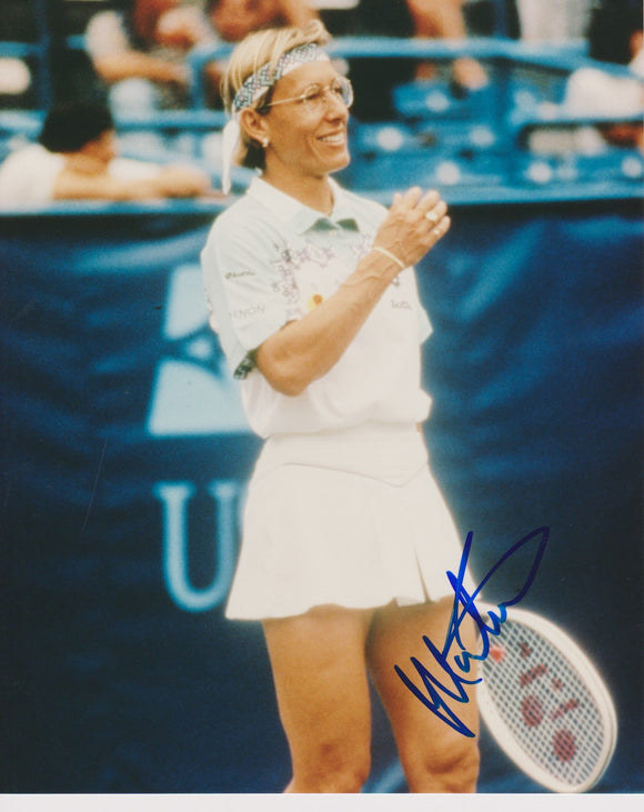 Martina Navratilova Signed Autographed Glossy 8x10 Photo - COA Matching Holograms
