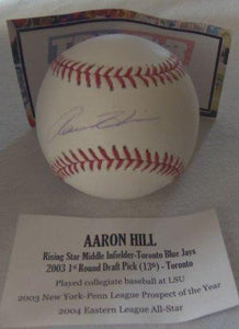Aaron Hill Signed Autographed Official Major League (OML) baseball - TriStar Authenticated