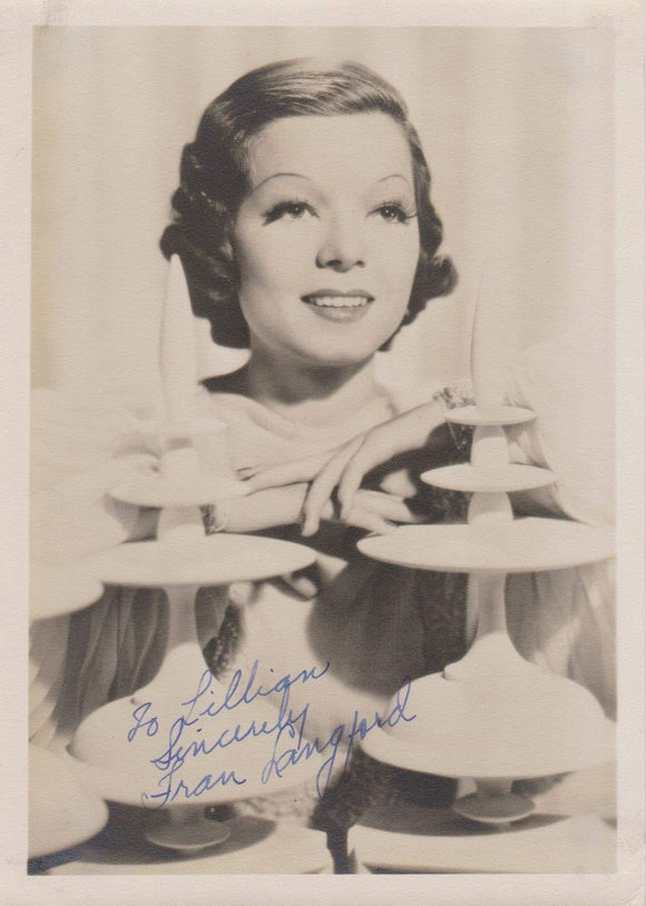 Frances Langford (d. 2005) Signed Autographed Vintage 5x7 Photo - COA Matching Holograms